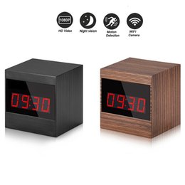 Motion Activated Clock Camera Australia - 32GB HD Alarm Clock Camera 1080P Wifi Network Camera Motion Activated Video Recording Night Vision Nanny Cam For IOS Android Control View