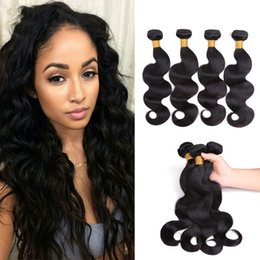 $enCountryForm.capitalKeyWord Australia - Body Wave Hair Bundles Non Remy Human Hair Weave Extensions Natual Color 8-26 Inch Hair Extensions