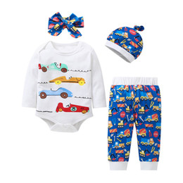 $enCountryForm.capitalKeyWord Australia - Christmas baby suits cartoon newborn outfits pants+hats+headband baby clothes baby boy clothes infant girl clothes A7380