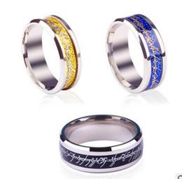 $enCountryForm.capitalKeyWord Australia - European titanium steel luminous dragon pattern ring fluorescent unisex ring retro ring mix size 17 to 21