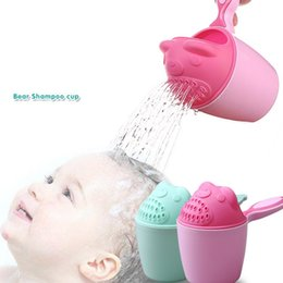 Bored hair online shopping - Cartoon baby animal bath cup children bath spoon hair bath cup mom baby little bear shower head tools T2I5026