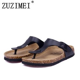 53df94aae New Men Summer Sandals Cork Shoes Slippers Casual Shoes Mixed Colors Beach  Slippers Flip Flops Flats Slides Plus Size 35-45