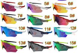 Vente en gros plus récent été homme sport cyclisme lunettes de soleil lunettes femmes bicyclette masque Sport couleurs extérieures lunettes de soleil 15 couleurs livraison gratuite