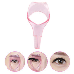 China Eyelash Tools 3 in 1 Makeup Mascara Shield Guard Curler Applicator Comb Guide supplier makeup guides suppliers