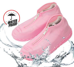 rain boots NZ - Silicone Outdoor Non-slip Waterproof Shoe Covers Portable Rain Boots Rainproof Shoes Men Women Reusable Anti-sand Shoe Cover