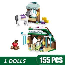Blocks For Girls Australia - 155PCS Small Building Blocks Toys Compatible with Legoe Anna's AdventureGift for girls boys children DIY
