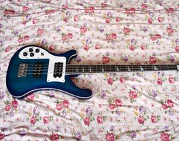 $enCountryForm.capitalKeyWord Australia - Factory Custom Blue Left Handed Electric Bass Guitar with 4 Strings,Rosewood Fretboard,HH Pickups,High Quality,Can be Customized