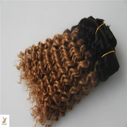 Human Hair Types Australia - Two Types Color Deep Wave Peruvian Hair Bundles 10-30 Inchs Double Weft Remy Hair Extensions 100% Human Hair Weave