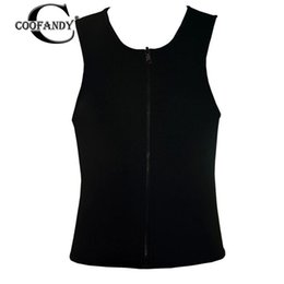 $enCountryForm.capitalKeyWord UK - Men Slimming Chest Belly Body Shaper Front All Seasons Zip Sport Fitness Vest Solid Thin Neck Shirt Shapers