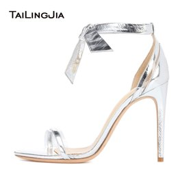 $enCountryForm.capitalKeyWord NZ - Elegant Open Toe Metallic Sliver High Heel Sandals Transparent PVC Heeled Shoes Ladies Summer Strappy Evening Dress Heels 2018