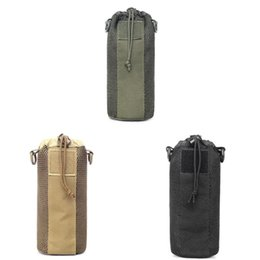 Bottle pouch molle online shopping - Foldable Outdoor Tactical Molle Water Bottle Pouch Bag D Nylon Adjustable Canteen Cover for Hiking Climbing Travel