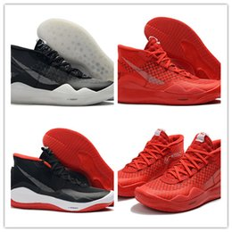 Discount new kevin durant shoes kd - 2019 Best New KD XII 12 Red Black Basketball Shoes For High Quality Leather Mens Fashion Kevin Durant 12s Sports Sneaker