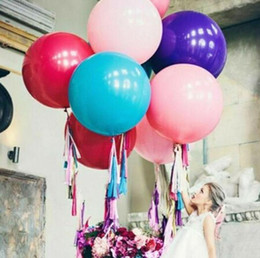 Latex Gifts Australia - 36 inch Wedding Romantic Valentine's Day Decoration Big Large Latex Balloons Christmas Event Inflatable Birthday Party Air Balloons gift