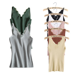 Discount strip women top - Fashion Women V-neck Vest Camisole Casual Tops Sling Tank Tops Knit Vest Stretch Ladies Slim Sexy With Strips Camis