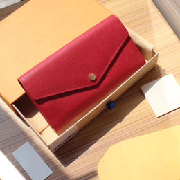 $enCountryForm.capitalKeyWord Australia - Newest classic Presbyopic package All leather embossing designer wallet credit card bag zip change purse Envelope Sarah wallet