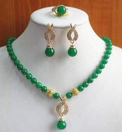 $enCountryForm.capitalKeyWord Australia - Colors best gift jewelry set! wholesale, Factory price for women semi-preciousNatural jade necklace pendant ring set