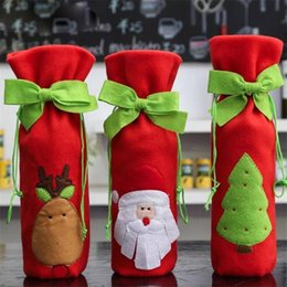 $enCountryForm.capitalKeyWord Australia - Santa Claus Wine Bottle Cover Bag Santa Sacks Ornament Christmas Decorations For Home Noel New Year Christmas Dinner Table Decor