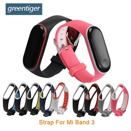 Wholesale Silicone Strap for Mi Band Xiaomi Smart bracelet Accessories Replacement Double Color wrist strap for Xiaomi Mi Band