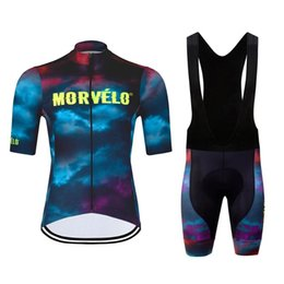 men jersey sets Australia - 2020 new morvelo nova short sleeve cycling jersey kit men mtb race bike tops bib gel padded cycling set maillot hombre
