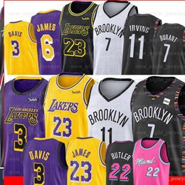 Vente en gros NCAA LeBron 23 James 7 Kevin Durant Jersey 2019 Hommes Kawhi Youth Kyrie Anthony 3 Davis Irving Maillots de basket cousus