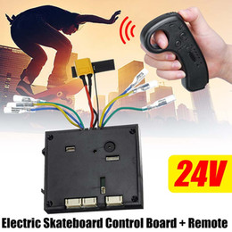 electric controller 24v 2019 - 24V Electric Skateboard Control Board+Remote Controller For Dual Motor ESC Substitute Parts Scooters Skate Board Accesso