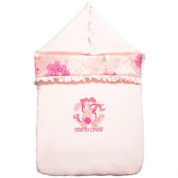 New baby quilts online shopping - NEW Brand Baby girl Sleeping bag Pink flower print Newborn Sleeping Bag Autumn winter quilt