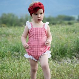 Pink Baby Tutu Australia - Newest Girls Belt Rompers Outfits Pink Plaid Newborn Baby Bodysuits One Piece Floral Stripes Blackless Baby Girls Bodysuits Infant