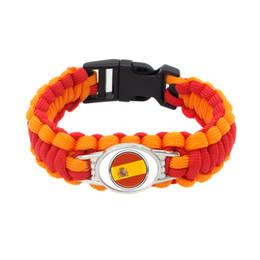 $enCountryForm.capitalKeyWord Australia - 21#Fashion Spain National Flag Survival Paracord bangle bracelet football fans gifts