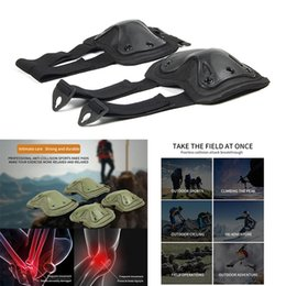 Discount hunting knee pads - 2PCS Protection Set Knee Elbow Pads Tactical War Paintball Hunting Climbing Game Protector Wear-Resistant Tough Safely