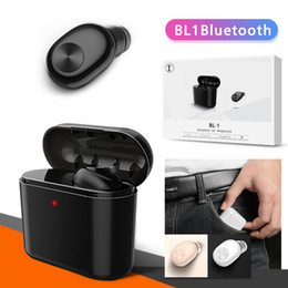 Nextel battery online shopping - BL1 mini wireless bluetooth headphones headset wireless earbuds in ear Earphones V4 mah battery charger case with retail package