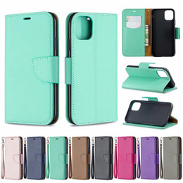 note cover pouch NZ - Leather Wallet Case For Samsung Note 10 Pro A10E Iphone 5.8 6.1 6.5 inch 2019 Litchi Leechee Flip Holder ID Card Slot Purse PU Cover Pouch