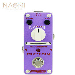 vintage effects pedal 2019 - NAOMI Aroma AFM-3 Guitar Effect Pedal Vintage Distortion Pedal Guitar Effect Firecream Based On The 1st Version EH Muff