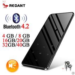 Mp Player Speaker Australia - MP3 player bluetooth mini usb sport music player portable flac hifi mp 3 32gb with speaker touch screen tf radio fm audio