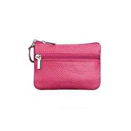 $enCountryForm.capitalKeyWord Australia - Women Multi Function Coin Purse Bag Fashion Simple Mini Leather Coin Purses Key Chain Zipper Organizers Storage Bags Women Pouch
