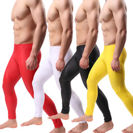 26c9f8cc292 PU Leather Men Pants Long Trousers Sexy Novelty Skinny Muscle Tights Men s  Leggings Faux Leather Slim Fit Tight Men Pants