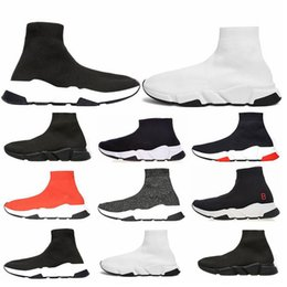 race tracks NZ - CHEAP Balanciaga Shoes Brand Man Woman Casual Track Speed Trainer Run Sneaker Race Runners Arena Triple-S Stretch Sock Knit Boots