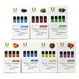 $enCountryForm.capitalKeyWord Australia - Authentic Uptowntech Gem Pods 4pcs Pack 1.0ml Vape Cartridge Fit for Juu Vapor Device Gem Pod Compatible With 8 Flavors Free DHL
