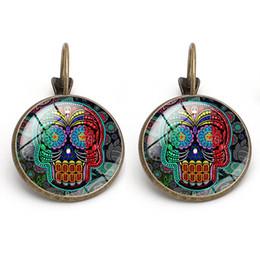 $enCountryForm.capitalKeyWord Australia - New Fashion Creative Skull Time Gemstone Halloween Earrings French Hook Vintage Lady Ear Hook Earring Accessories