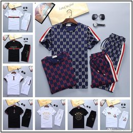 Hot Cat Suits Australia - Hot luxurys designers brand summer for men clothes embroidery cat letter gray Tracksuits t-shirt shorts shirt breeches suit sportsuit tee