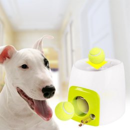 $enCountryForm.capitalKeyWord Australia - Automatic Interactive Dog Tennis Ball Launcher Throwing Machine for Training and Playing Interactive Ball Toys Treats Awards