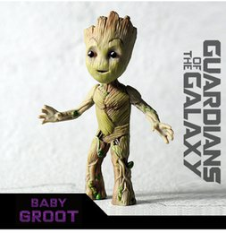 action figure stands NZ - 9.5cm Tree Man Baby Action Figure Doll Grunt Guardians of The Galaxy Model Toy Statue Ornaments Standing Groot Toy For Kids W04