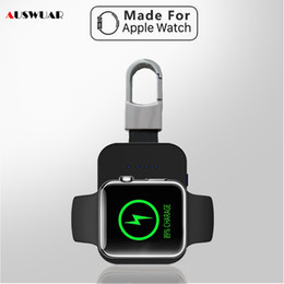 $enCountryForm.capitalKeyWord Australia - Qi Wireless Charger Power Bank For Iwatch 1 2 3 4 Portable Mini External Battery Pack Keychain For Apple Watch Wireless Charger J190704
