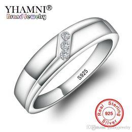 $enCountryForm.capitalKeyWord Australia - YHAMNI Original 100% Real 925 Sterling Silver Rings With S925 Stamp Set 3pcs Sona Diamant Engagement Wedding Jewelry Rings HR028