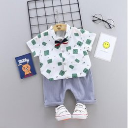 18 Month Old Clothes Australia - Boys summer suit new children's short sleeve summer two-piece set 1-2-3 years old baby children's shirt clothes