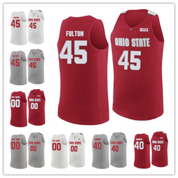 850cb7116 Custom Ohio State Buckeyes 35 Gary Bradds 34 Kaleb Wesson 25 Kyle Young Any  name any number Stitched mens NCAA College Basketball Jerseys