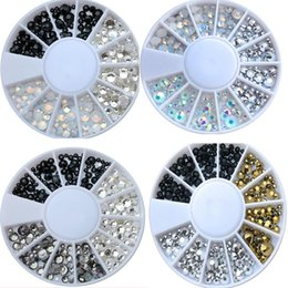 flat gem backs NZ - 1 wheel Crystals SS6 SS8 SS10 SS16 Small 4Sizes Rhinestones - flat back rhinestone gems charms stones non hotfix for nail art