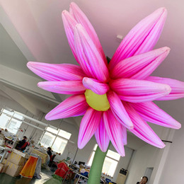 $enCountryForm.capitalKeyWord Australia - outdoor parade show decor pink inflatable hanging flower inflatable ceiling flower valentine events ornament