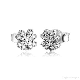 $enCountryForm.capitalKeyWord UK - 2019 Spring earrings 925 Sterling Silver Radiant Lucky Four Leaf Clover Stud Earrings For Women European Style Jewelry Original Fashion
