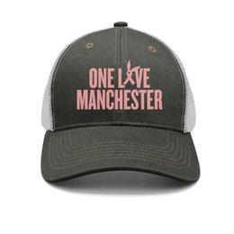 Ariana grande one love манчестер логотип армейско-зеленый мужские и женские колпаки водителя грузовика прохладно установлены модные шляпы