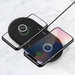 iphone xr charging station Australia - AMS-Dual 10W Wireless Charger for iPhone X XS Max Xr Qi Double Fast Charging Dock Station for Samsung Galaxy S8 S9 Note 9